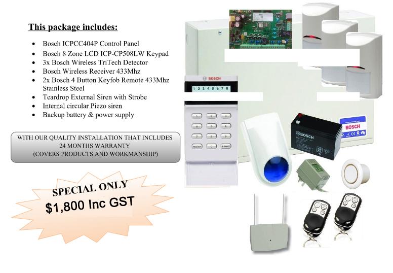 BOSCH ICP404 & Tri-tech Package
